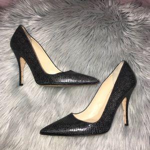 Kate spade snake skin pout toe pumps heels 9